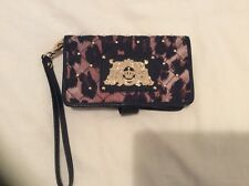 Juicy Couture Cheetah Quilted Wallet / Phone Case Wristlet With Gold Hardware