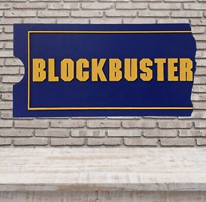 "Blockbuster Video Huge Display Sign 46"" x 23.5"" Perfect For Theatre Room"