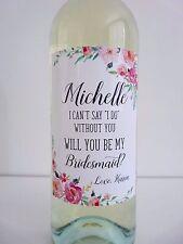 Personalised Wine Bottle Labelx4 - Wedding, Bridal Baby Shower custom wine label