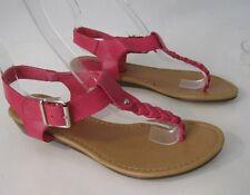 Mujer Verano Rosa 2.5cm Tacón bajo Tira Trasera Zapatos Sexy Sandalias Size 6