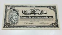 1974 Canadian Tire 50 Fifty Cents CTC-S4-E-EN Circulated Money Banknote E076