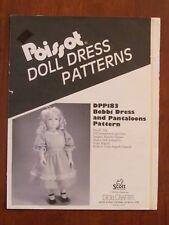 "POISSOT DOLL DRESS PATTERN - DPP183 BOBBI DRESS & PANTALOONS 24"" 1991"