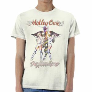 Mötley Crüe Dr. Feelgood Logo T-Shirt Short Sleeve Tee Motley Crue Album Cover