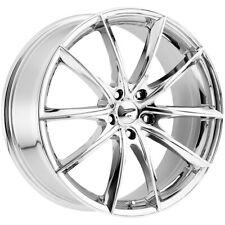 """4-Platinum 435C Flux 16x7 5x120 +40mm Chrome Wheels Rims 16"""" Inch"""