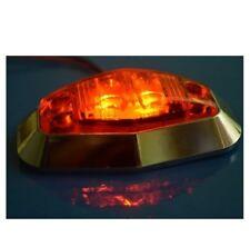 4 x 24V Feux de gabarit LED Orange contour de phare chromé CAMION REMORQUE BUS
