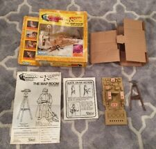 Vintage INDIANA JONES KENNER 1982 MAP ROOM ROTLA BOX & INSERT & PARTS