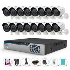 TECBOX 16 Channel DVR 700tvl HDMI Home Security Cameras System CCTV System Kit