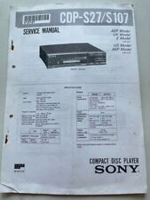 CDP-S27  /S107 original SONY Service Manual Schaltbid,