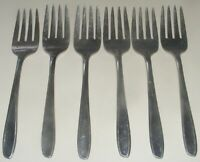 6 Silco Panorama Stainless Steel Salad Forks