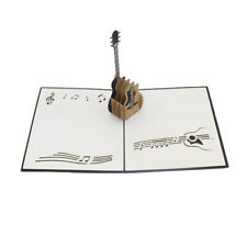 Guitar 3D Pop Up Greeting Cards Postcards Invitation for All Occasions