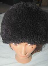 cc6e960159b6a Vintage Ladies Hat Russian Style Black Zipper Faux Fur Winter