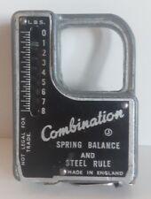Vintage Fishing Combination Spring Balance & Steel Rule