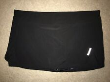 Reebok Black Running Tennis Skort X Large Xl Built in Shorts Under Skirt Lt Wt