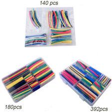 140pcs 180pcs 392pcs Polyolefin Heatshrink Tube Heat Shrink Tubing Sleeving Wrap