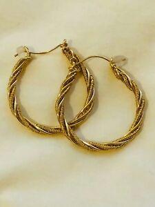 Beautiful 14k Yellow GF Hoop Earrings. Make an Offer!