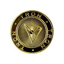 Tron Gold Cryptocurrency Collectors Coin