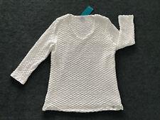 W.LANE: Size: S. (8-10). Stylish WHITE Jacquard Design Body-Lined, /SleeveTop