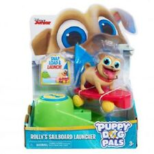 Disney Puppy Dog Pals On The Go Figure Pack Rolly Sailboard Launcher Ships Fast