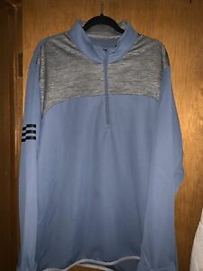 Adidas Golf 1/4 Zip Pullover XXL Blue Super Clean