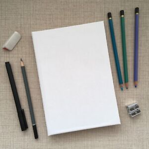 Artist Sketch Book Hard Back Case Bound Cover To Personalise - 140gsm Cartridge