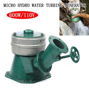 600W Micro Hydro Water Turbine Electric Generator Hydroelectric Power