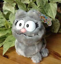 "New Listing1983 Dakin 8"" Plush Nermal Gray Garfield Cat Stuffed Vintage Animal Toy"