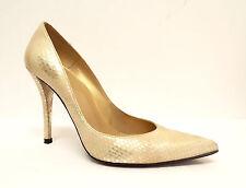 STUART WEITZMAN Size 7.5 NOUVEAU Gold Heels Pumps Shoes 7 1/2