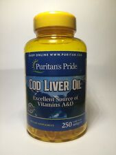 COD LIVER OIL 415MG EYE IMMUNITY BONE HEALTH PURE NORWEGIAN Vitamin A&d 250 SOFT