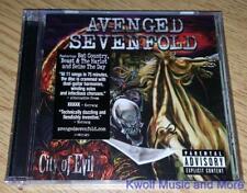 """AVENGED SEVENFOLD  """"City of Evil""""    [PA]  NEW  (CD, 2005)"""