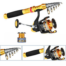 Nylon Line Fishing Kit Telescopic Sea Rod Spinning Reel Lure Tackle Set