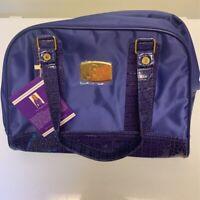 Joy Mangano Clothes It All  Womens Mini Weekender Satchel Travel Bag Purple New