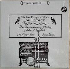 BIRD FANCYER'S DELIGHT - RICHARD & THEODORA SCHULZE - VOX LP - IN SHRINK WRAP