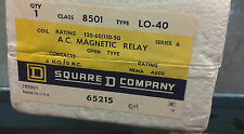NEW SQUARE D 8501 LO-40 A.C. MAGNETIC RELAY NIB      4 N.O.CONTACTS