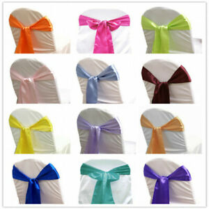 Chair Sashes Satin Polyester Fabric Multi-color 10/Pack