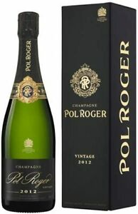 Pol Roger Brut Vintage 2012 Champagne 75cl Gift Boxed