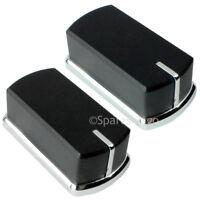 2 x Genuine BELLING Hob Oven Cooker Knob Switch Black Silver FSE60DO FSE60DOP