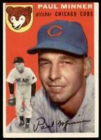1954 Topps Set Break Paul Minner Chicago Cubs #28