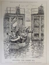 WW1 1915 SWEEPING THE NORTH SEA FOR BRITISH Punch Cartoon 29th December