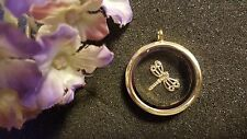 Beautiful Gold Dragonfly Floating Charm for Living Memory Lockets - US Seller