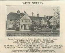 1936 Half Timbered Tudor Farmhouse West Surrey For Sale