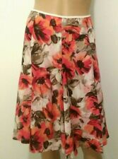 BANANA REPUBLIC Skirt Pleated Floral Lined Sz 0 Zipper on Left side Mix Fabric