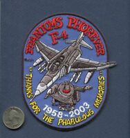 MCDONNELL F-4 PHANTOM 45th Memories USAF US NAVY USMC Fighter Squadron Patch