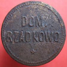 Old Rare Deutsche token - Dom. Rzadkowo (Posen) - 1 - UNLISTED -mehr am ebay.pl