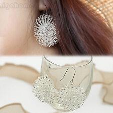 Fairy-like Plated silver Dandelion Dangle Stud Earrings Jewelry Loves Gift Cute