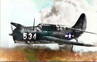 Curtiss SB2C Helldiver WW2 Dive Bomber Airplane Military Chrome Postcard 101