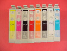 T0870 1 2 3 4 7 8 T0879 Used Ink Cartridge Epson Stylus Photo R1900 8PK Refill