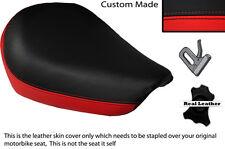 Negro Y Rojo Custom encaja Suzuki Gz 125 Marauder Frontal De Cuero Funda De Asiento