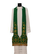 Green Roman Clergy Stole SH3-Z Vestment Étole Verte Grün Stola Verde Estola