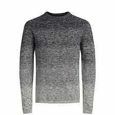 Mens Jumper Jack & Jones Fuel Knitted Crew Neck Pullover Sweater Total Eclipse X Large