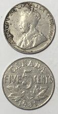 1931 ~ CANADA ~ 5 CENTS ~ GEORGE V ~ G6 condition